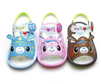 Free Shipping 2013 baby soft outsole skidproof toddler shoes children shoes cow muscle outsole sandals