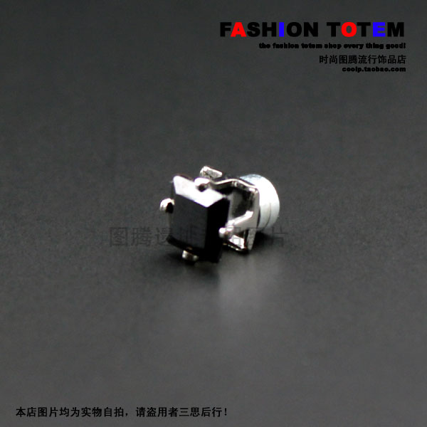 Belt ! square rhinestone magnet series of stud earring t1807 single(China (Mainland))