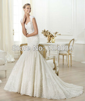2014 New Style Appliques Lace up Sweetheart Latest Best selling Elegant Wedding Dress
