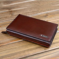 2013 new European and American men's business wallet fashion clutch leather men's bag,1 pce wholesale free shipping