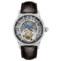 Diamond exalted series tourbillon mechanical watch cutout commercial men's watch genuine diamonds watch