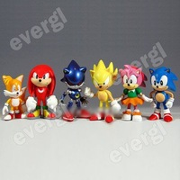 6pcs X Sonic the Hedgehog Collection Figure doll
