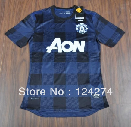 Player version new 2013-14 MU 7#Rooney Thailand quality soccer jerseys,soccer uniform Original LOGO,3 EMS free shipping(China (Mainland))
