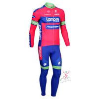 2013 Tour De France ProTeam LAMPRE Long Sleeve Cycling Jerseys & Long Pants Set,Cycling Wear, Cycling Clothing for Men & Women