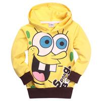 Free Shipping Hot 6pcs/lot Kids boys girls hoodies baby boys SPONGEBOB  hoodies T shirts Sweatshirts kids clothing wholesale