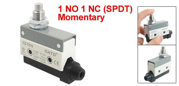 Panel Mounted Plunger Actuator Basic Micro Limit Switch SPDT NO NC CZ-7310(China (Mainland))