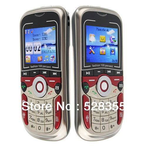 Free Shipment 1.8 Inch Dual SIM Bluetooth FM GSM flashlight 3D sound music cell phone K200(Hong Kong)
