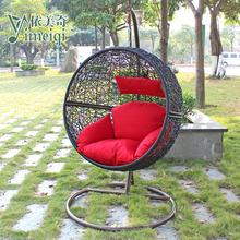 Rattan hanging basket rattan furniture outdoor rattan swing singleplayer bird's nest chair cushion bag(China (Mainland))