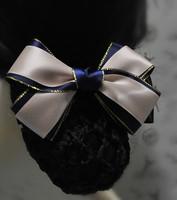 Staff bow hair accessory net bag flower hair accessory
