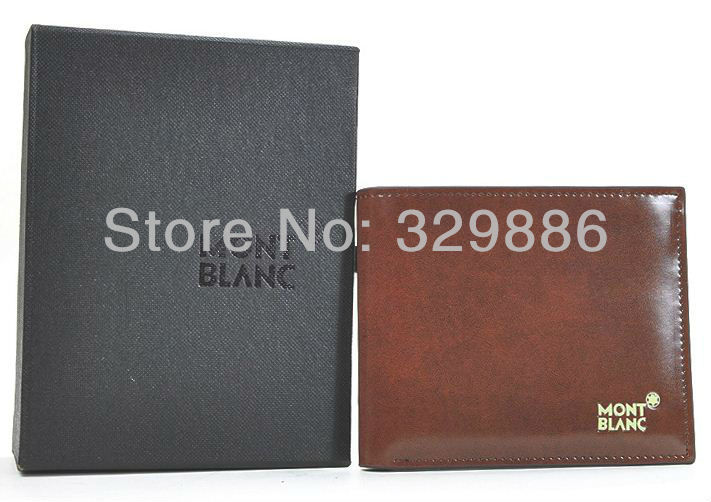 Free Shipping wholesale + Brand name genuine Leather Wallet for men + Gent Leather purses+ brand orginal gift box, hot fashion(China (Mainland))