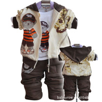 2013 spring male children's child clothing baby clothes baby set sports set piece