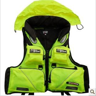 Multifunctional life vest outdoor vest fishing vest fishing life jacket life saving vest snorkel(China (Mainland))