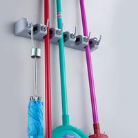 Magic Wall Mounted 5 Position Kitchen Storage Mop Broom Organizer Holder Tool
