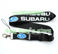 SUBARU Wholesale 20pcs Cars Logo Lanyard/ MP3/4 cell phone/ keychains /Neck Strap  Free shipping