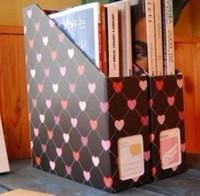 Stationery magazine storage box on the table simple bookshelf Small