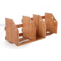 Bamboo contraction of bookshelf child bookshelf table of the shelves adjustable length storage box finishing rack file holder