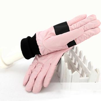 Winter fashion thermal gloves polar fleece fabric thermal gloves 9403 lovers ski gloves