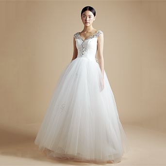 Free Shipping Cindy gauze skirt belt wedding dress - wedding 2013 spring(China (Mainland))