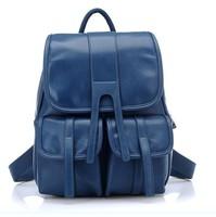 2013 backpack female backpack girls school bag travel bag street bag PU backpack candy color bags free shipping