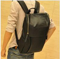 Zipper PU backpack vintage casual backpack bag student school bag general travel bag