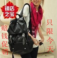 2013 PU large capacity backpack casual backpack man bag women's handbag student school bag travel bag