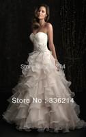 2013 New Organza Sweetheart Ruffles Beaded Wedding Dress Bridal Gown Custom Size