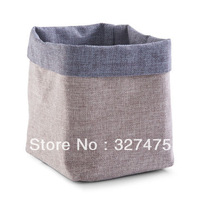 Free shipping!2013 Eco-Friendly linen bread basket / storage basket(15*15*18CM)