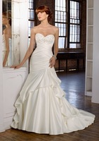 New Listing Sweetheart Dress A-Line Satin Wedding Dresses Bridal Gowns Hot Sale