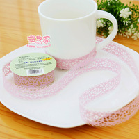 decoration lace tape diy print decoration stickers korea stationery small fresh transparent 1meterx1.8cm