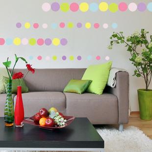 Romantic wall stickers sofa wall ofhead beijingqiang sticker colorful circle(China (Mainland))