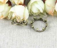 Free shipping Wholesale Antique Bronze Beautiful crown Pendant Charms 17MM 50pcs/lot