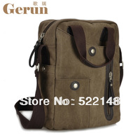 new arrival hot sale 2013 vertical retro business  messenger bag casual canvas bag items promotion