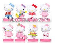 hello kitty pvc figure set PVC finger toy 6pcs.set. 50set/lot Free shipping
