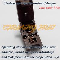 Pitch=0.65mm Size=3mmX3mm QFN8 Test Socket WSON8 MLF8 DFN8 IC Socket(Flip test seat)