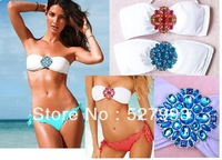biquini Free Shipping brand swimwear 2013 red high waisted bikinis sexy monokinis swimsuit rhinestone bathing suits biquini