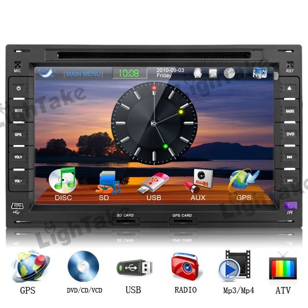 7648G 7 Inch Touch Car DVD Player with ATV CAN BUS 3G WiFi RGB Color Display Rearview Video Display AM FM for Volkswagen Black(China (Mainland))