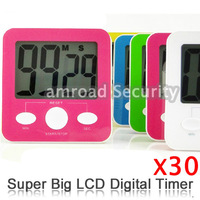 30pcs Super Big Large Size LCD Digital 99 Minutes 59 Seconds countdown/count up Kitchen Cooking Timer w ON/OFF Switch, by Post