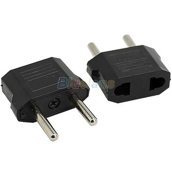 US to EU AC Power Plug Convertor Adapter Univesal Home Travel Use Socket Converter Electrical Plugs & Sockets 1J5D
