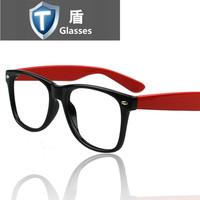 Big box glasses non-mainstream star style rivet plain glass spectacles frame decoration