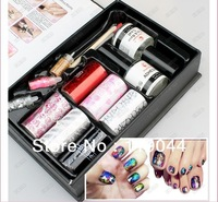 Free shipping Set of color Nail Art Foils Symphony Transfer Foil Nail Sticker Foil + Glitter+Adhesive NA655