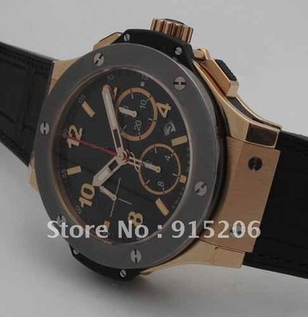 LUXURY BIG 44MM Big Rose Gold & 301.PT.130.RX SPECIAL SALE Band Material Rubber Chronograph Date quartz japan watches(China (Mainland))