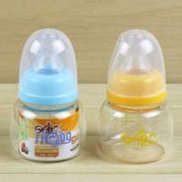 Rikang Brand high quality Baby Glass Milk bottle Mini Juice water bottle 80ml, With cross standard caliber nipple