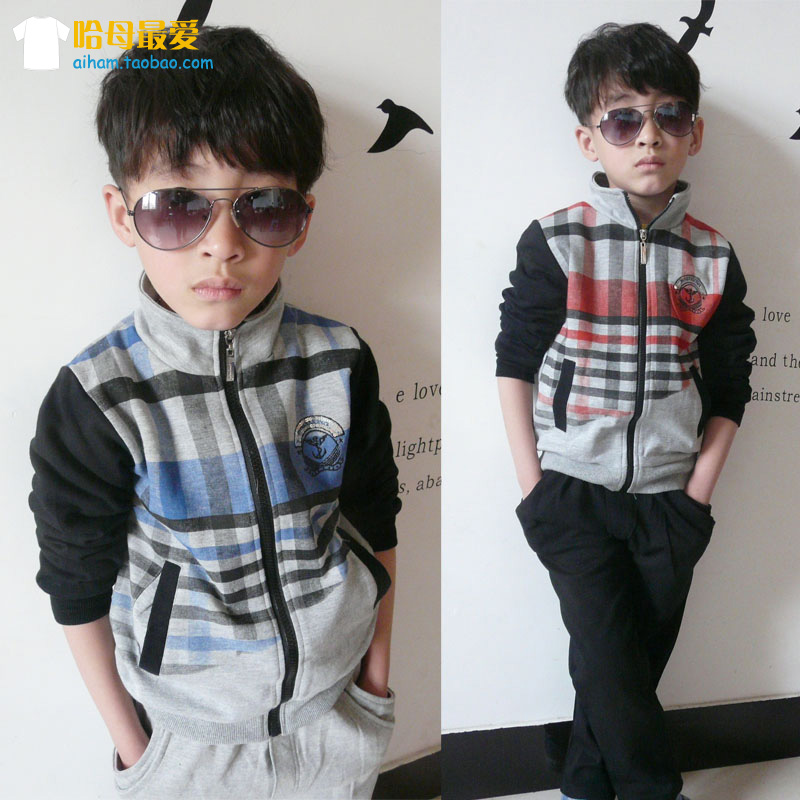 2013 new spring clothing Korean fashion tide boy leisure sports suit(China (Mainland))