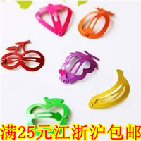 Wind candy color clip painted colorful fruit child bb clip hairpin side-knotted clip