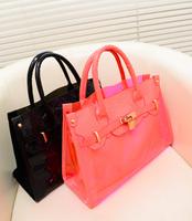Transparent bags 2013 jelly bag women's beach bag crystal bag one shoulder cross-body handbag