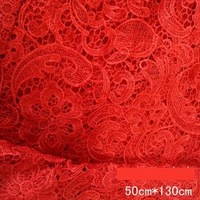 Water soluble lace cloth clothes three-dimensional embroidery fabric 0.5 meters