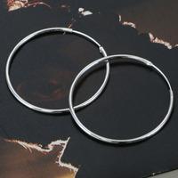 E042 Wholesale 925 silver earrings, 925 silver fashion jewelry, Smooth Round Earrings /atnajkuasc