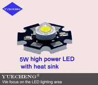 5W high power led lamp beads with aluminum heat sink with bridgelux 4chip free shipping