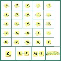 Free Shipping alphabet cufflinks, Scrabble cufflinks, letter cufflinks