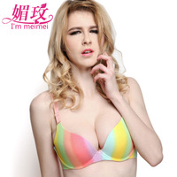 intimates bags women lolita pink white push up bra size 34 36 38 40 B CUP bra with spikes brassiere hot shapers body